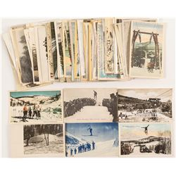 Large Group of Skiing Postcards
