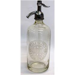 White Pine Soda Co. Seltzer Bottle (Ely, Nevada)