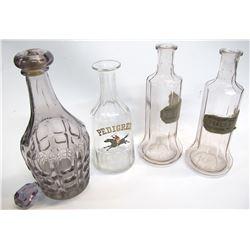 3 Back Bar Bottles and Decanter