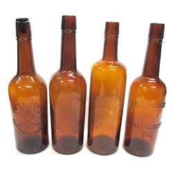4 Amber Western Whiskies Fifths