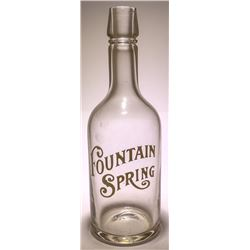 Fountain Spring Back Bar Bottle