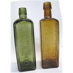 2  Pint Schiedam Schnapps Bottles