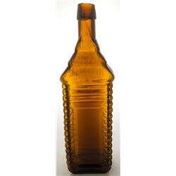 Root Beer Amber 4 Log Bitters Bottle