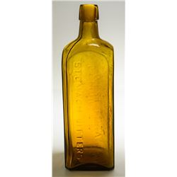 Yellow Amber Bitters Bottle