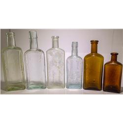 Embossed Medicine Bottle Collection, c1900