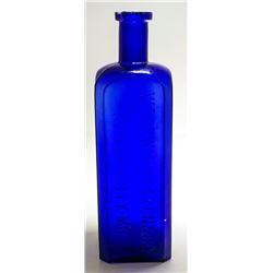 Cobalt Woodward & Faxon Bottle