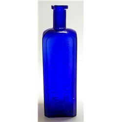 Cobalt Woodward & Faxon Bottle