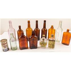 Box of 14 Vintage Bottles