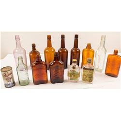 Box of 14 Vintage Bottles