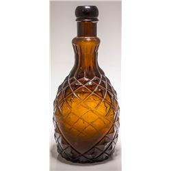Dark Amber Pineapple Bottle