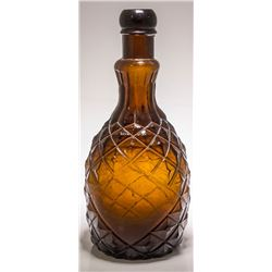 Dark Amber Pineapple Bottle