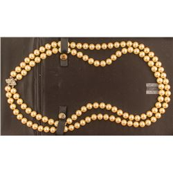 Antique Double Strand Cultured Pearls