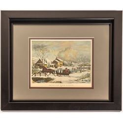 American Farm Scenes No.4 (Winter) (Nathaniel Currier Litho)