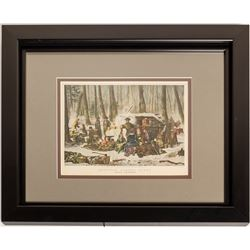 American Forest Scene, Currier & Ives Lithograph