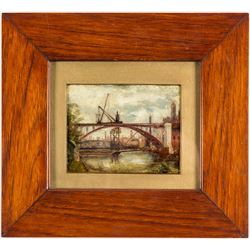 Bridge over River in Toronto (Oil Painting)