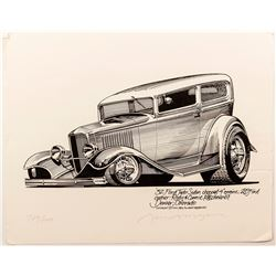 """'32 Ford Tudor Sedan"" Print"