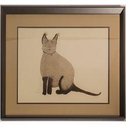 Andrei, the Siamese Cat, Barbara S. (Print)