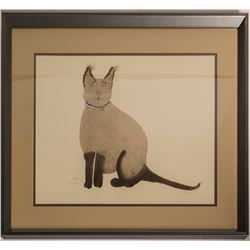 Andrei, the Siamese Cat, Barbara S. (Print)