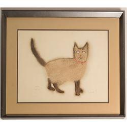 Angelique the Siamese Cat, Barbara S. (Print)