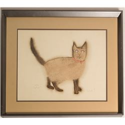 Angelique the Siamese Cat, Barbara S. (Print)