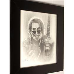 Charcoal Portrait of Jerry Garcia