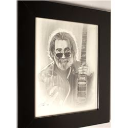 Charcoal Portrait of Jerry Garcia
