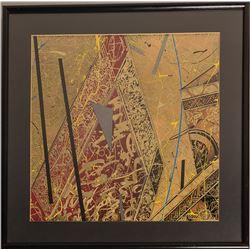 Floating Red Square I, William Gatewood Print