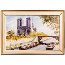 Notre Dame Painting