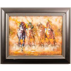 Print of Racehorses