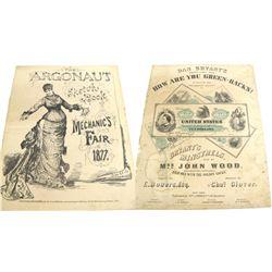 The Argonaut Sketch Book, Mechanics' Fair 1877