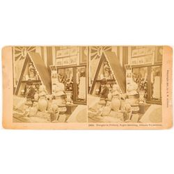 Rare Stereoview of African-American Art Exhibit at 1895 Atlanta Exposition