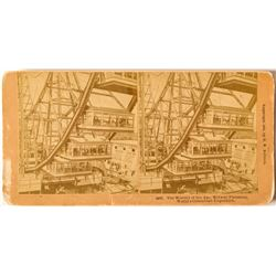1893 Columbian Exposition Stereoview of The Ferris Wheel