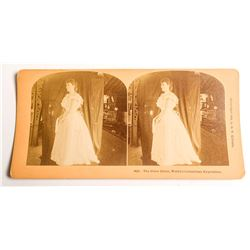 1893 Columbian Exposition Stereoview of The Glass Dress