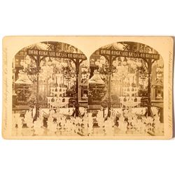 1876 Centennial International Exhibition Stereoview for The New England Glass Co.