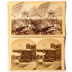 1876 Centennial International Exhibition Stereoviews featuring Cannons