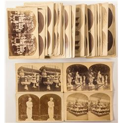1876 Centennial International Exhibition Stereoviews: Art Exhibits & Sculptures