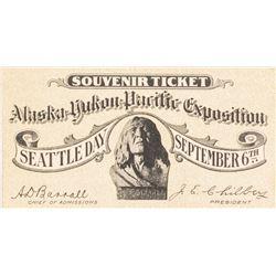 Alaska-Yukon Pacific Exposition Souvenir Ticket (AYPE)