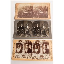 Trio of William Jennings Bryan Stereoviews