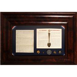 McKinley Signed Letter and Ephemera