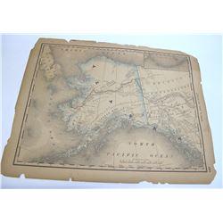 Alaska Map, c.1885
