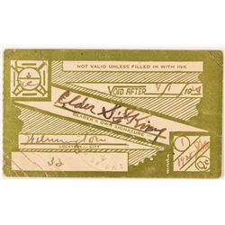 Rare Klu Klux Klan Membership Card