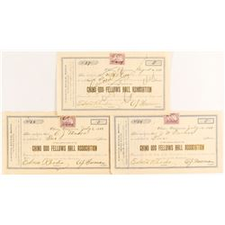 Chino Odd Fellows Hall Association Stock Certificates, 1899