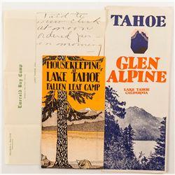 Lake Tahoe Ephemera Group