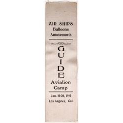 Guide Aviation Camp Ribbon, 1910, Los Angeles