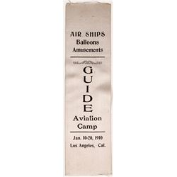 Guide Aviation Camp Ribbon, 1910, Los Angeles