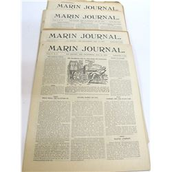 Marin Journal 1899-1900 21 Issues
