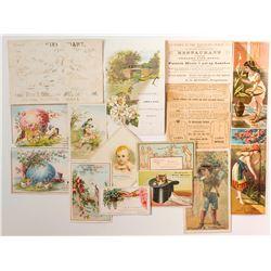 Oakland CA Trade Card Assortment