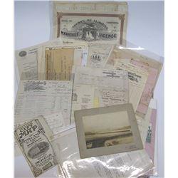 Miscellaneous Bay Area Photos, Letters, Maps, & Ephemera
