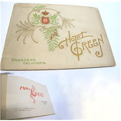 Hotel Green Promo Booklet with Foldout Floor Plan