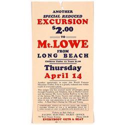 Mt. Lowe, CA Pacific Electric Train Broadside